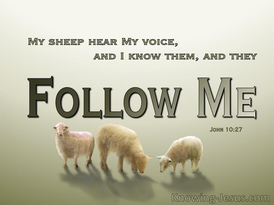 John 10-27 My Sheep Hear My Voice green