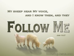John 10-27 My Sheep Hear My Voice green
